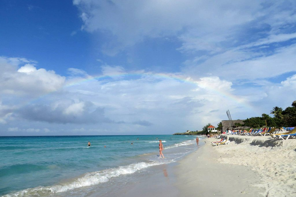 Dúha a pláž Varadero, Kuba