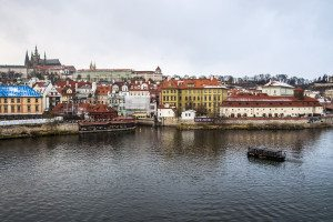 Praha - výhľad na malú stráň a hradčany