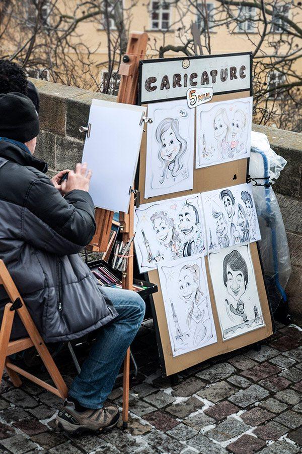 karikatúry - Karlov most