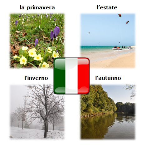 ročné obdobia po taliansky