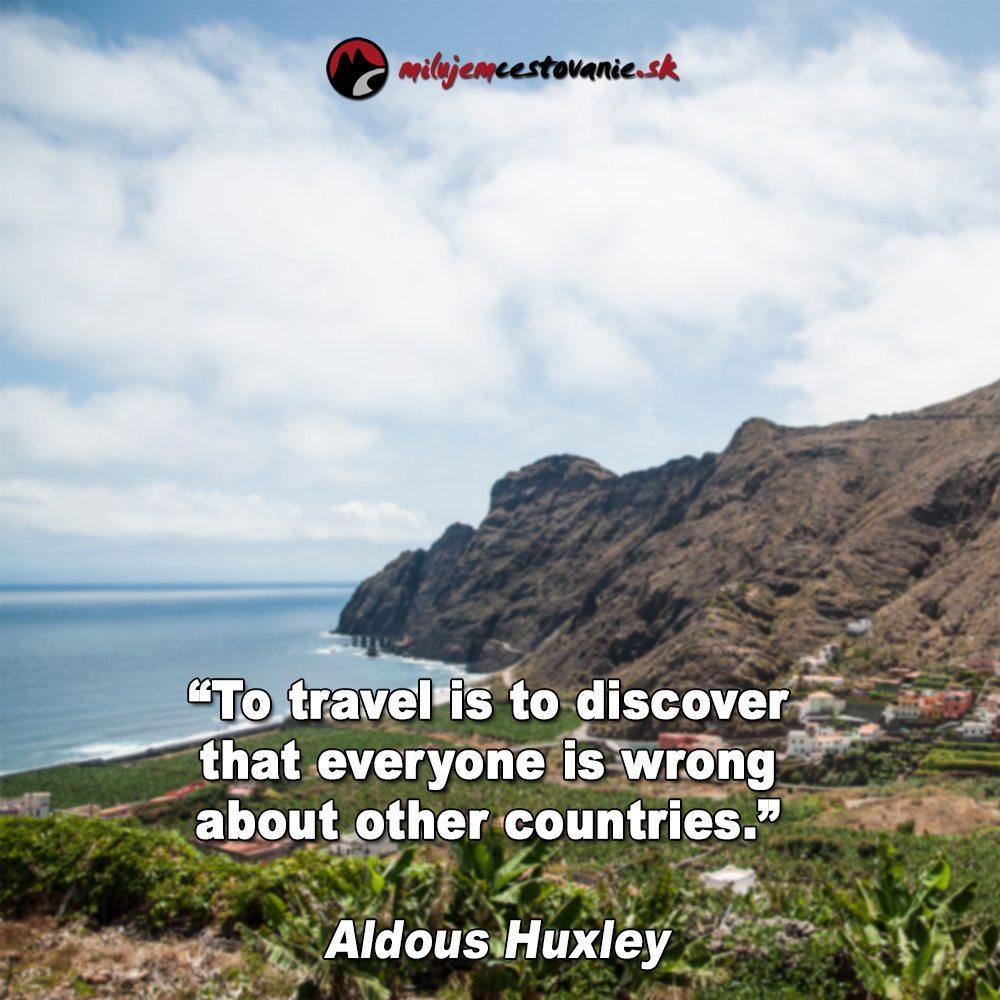 výroky o cestovaní