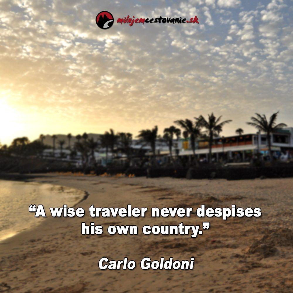 výroky a cestovanie