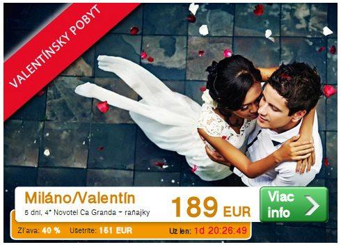 dovolenka na valentína v miláne