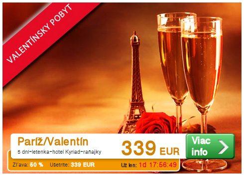 dovolenka na Valentína - Paríž