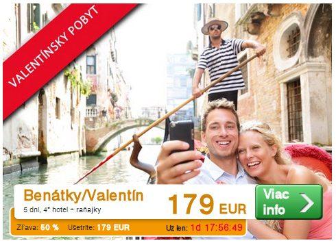 Valentínske cestovanie - výlet Benátky