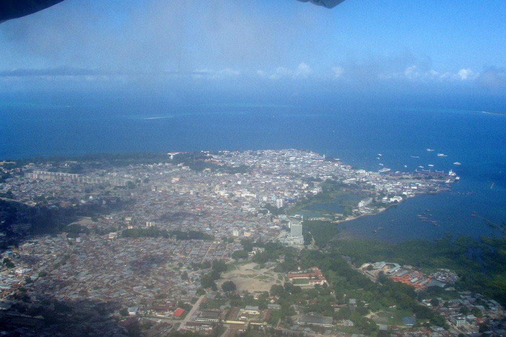 Zanzibar z lietadla