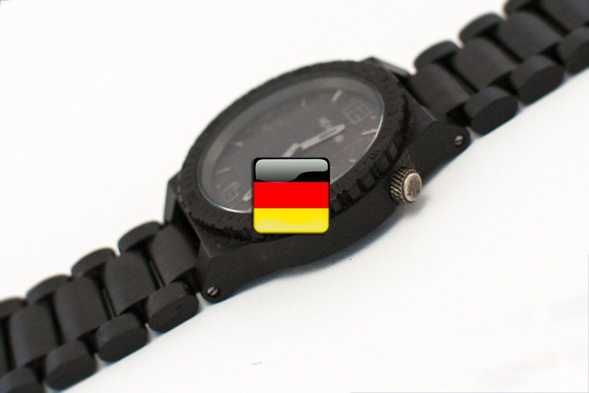 hodiny a čas po nemecky