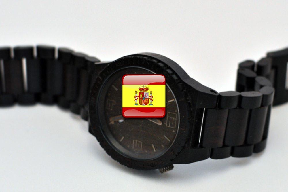 hodiny a čas po španielsky