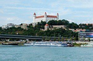 Bratislava castle above Danube
