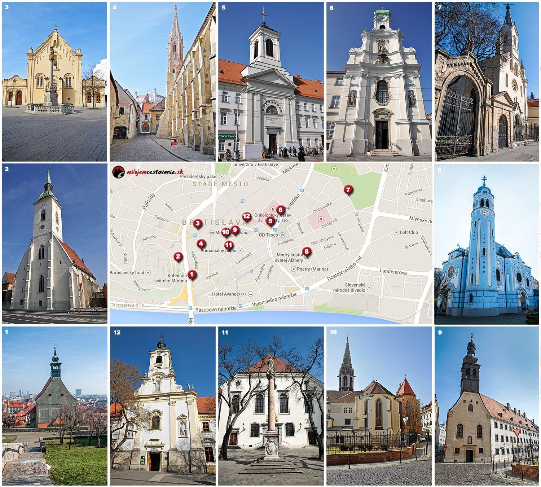 Churches in Bratislave | Kostoly v Bratislave