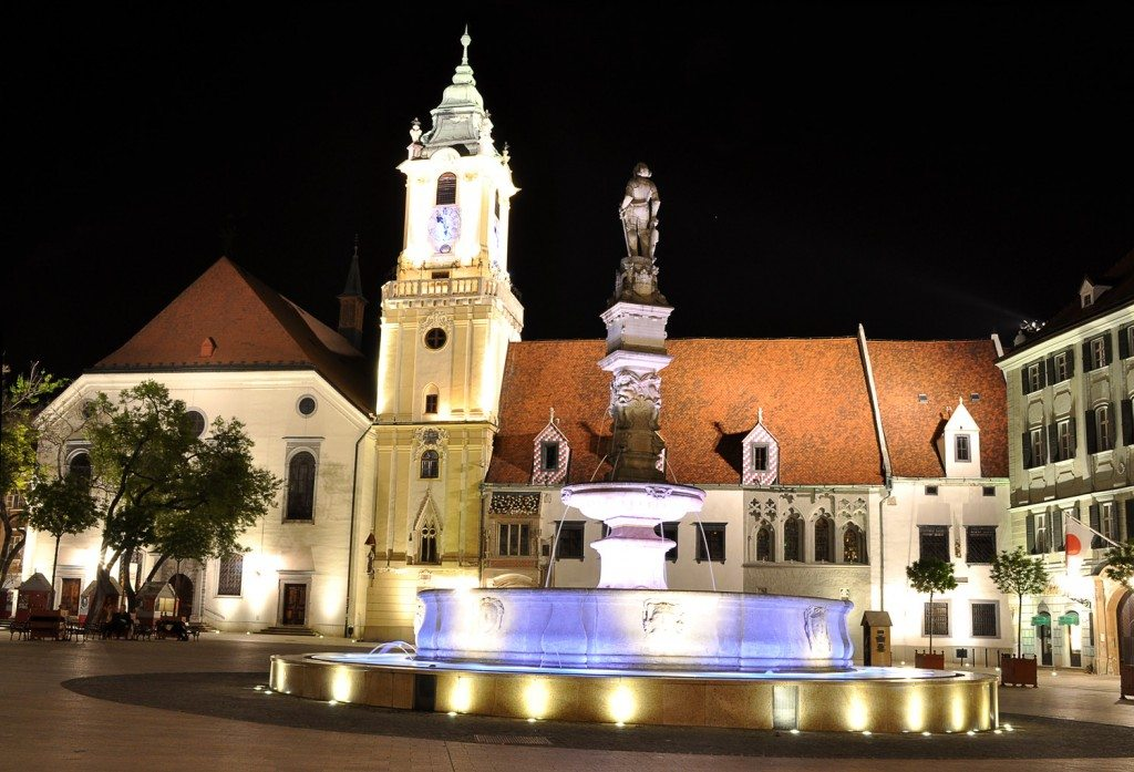 main square bratislava - old town hall