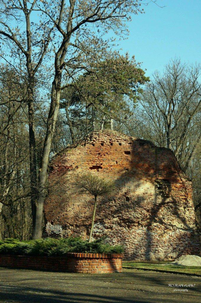 Trebišov - ruiny hradu Parič
