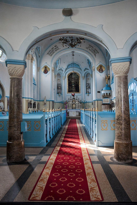 interiér Modrý kostolík - Bratislava