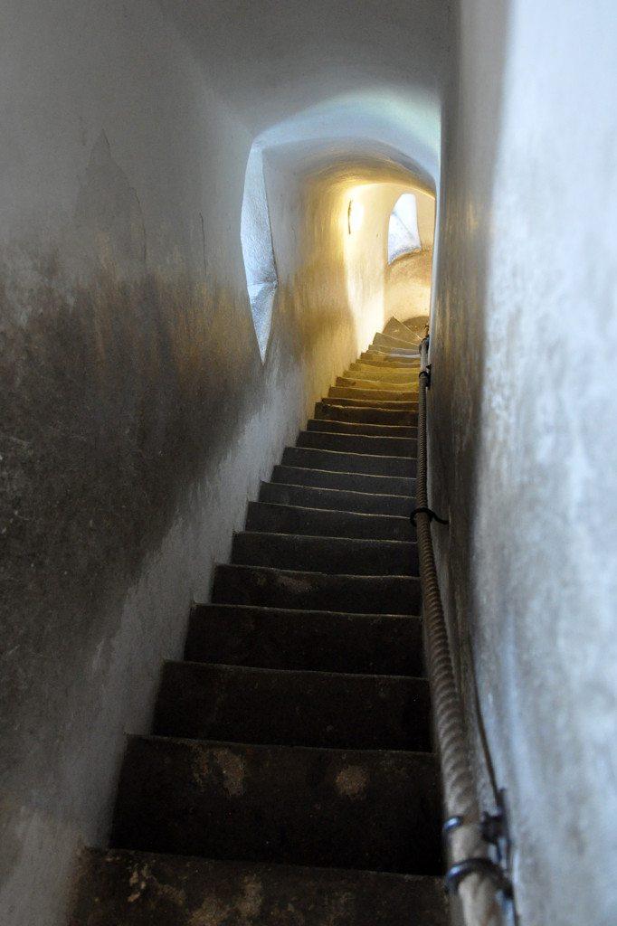 schody matúšova veža - trenčiansky hrad