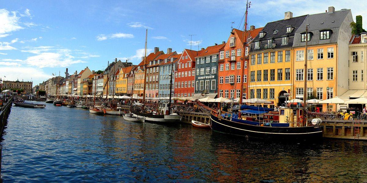 Farebné domčeky, Kodaň, Dánsko