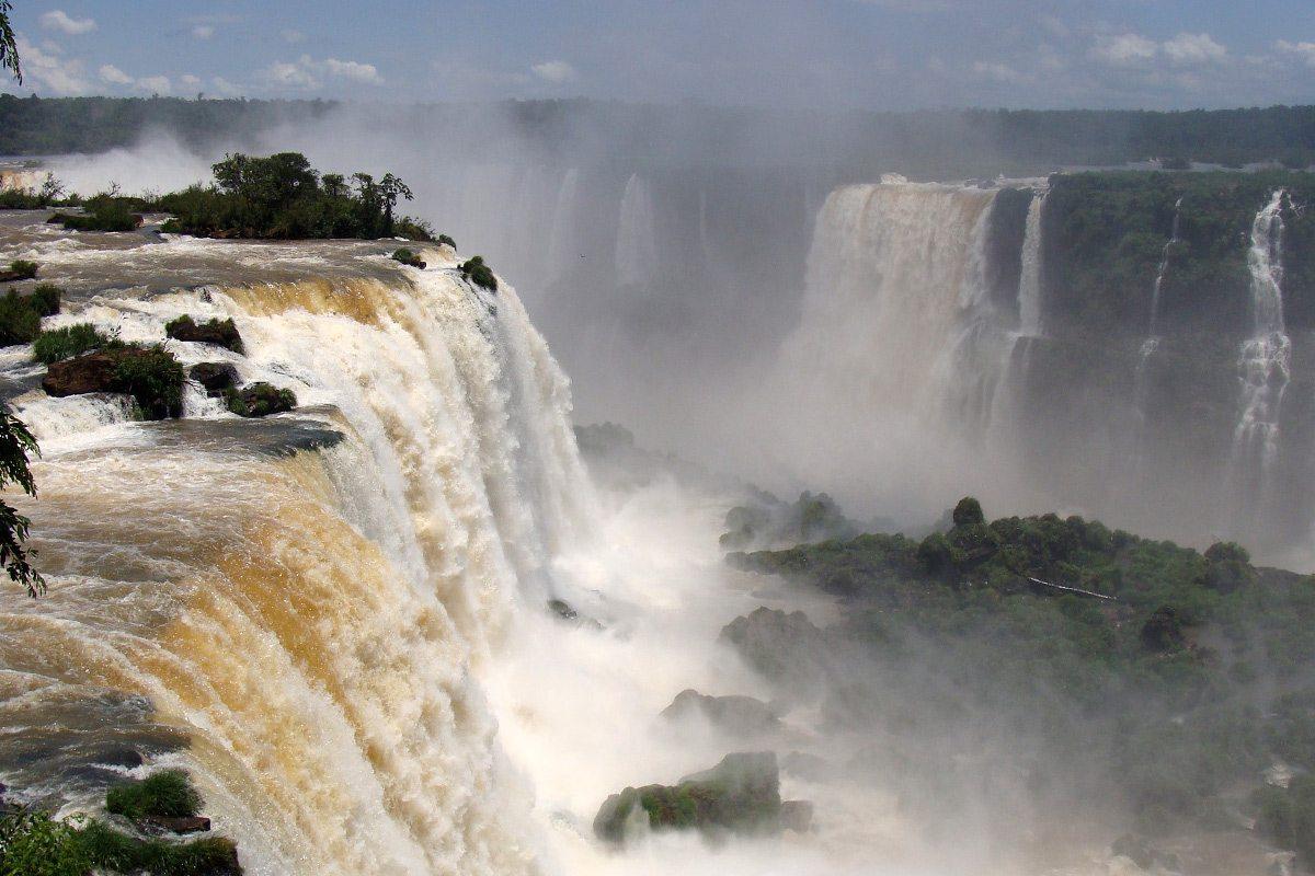 najkrajšie vodopády Iguazu