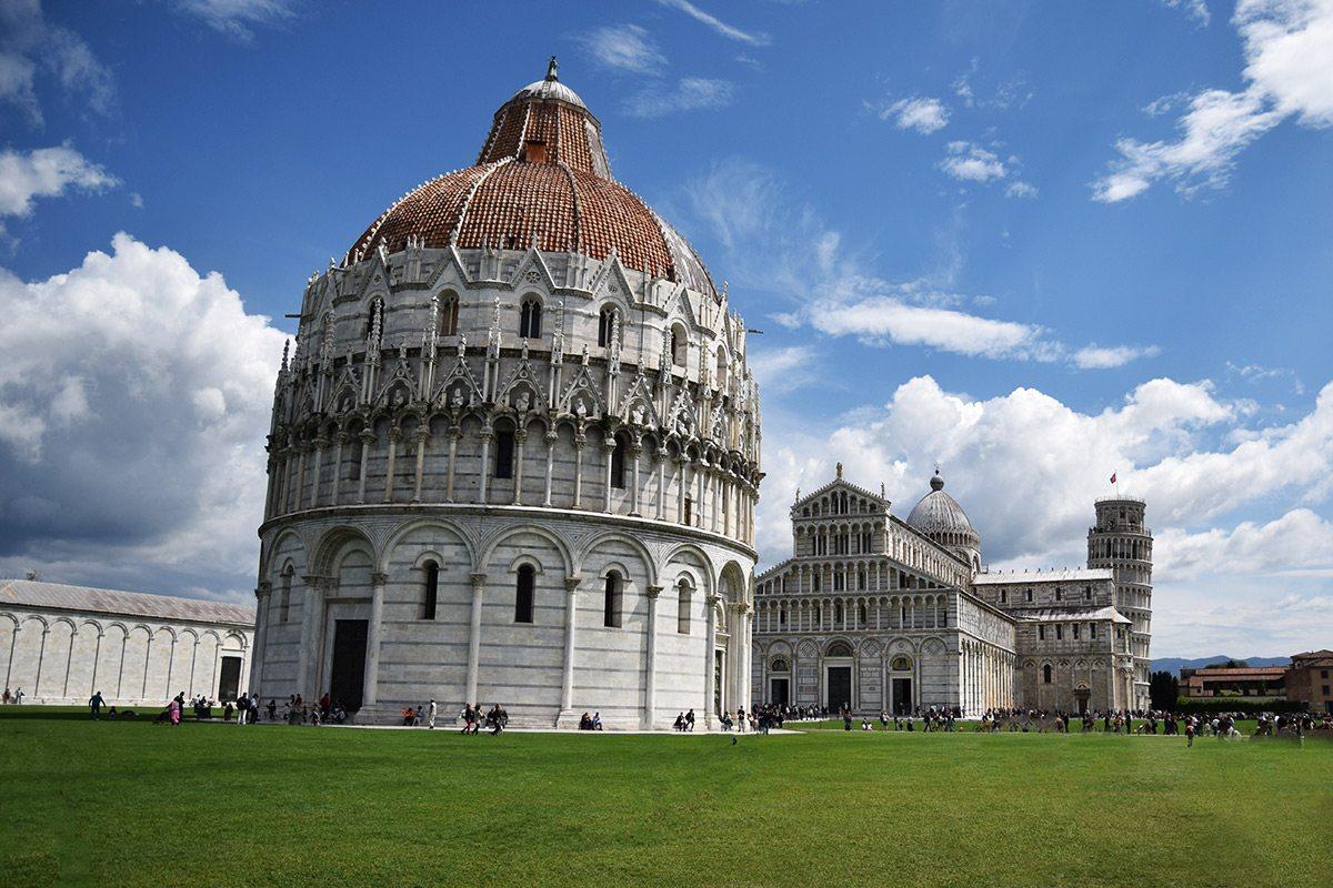 Pisa - katedrála a šikmá veža