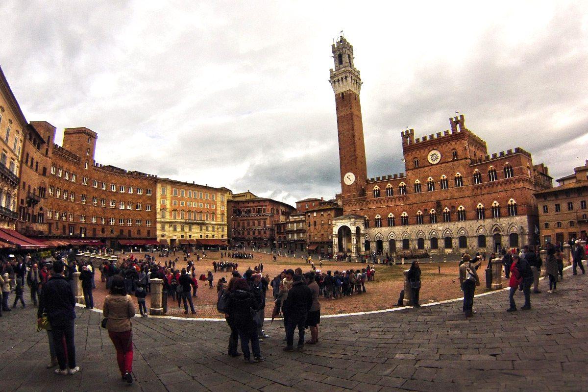 Siena, námestie