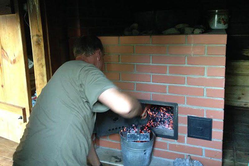 vyhrievanie dymovej sauny