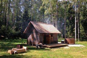 Dymová sauna v Estónsku