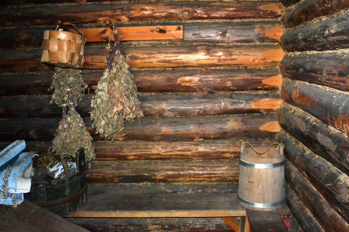 interiér dymovej sauny