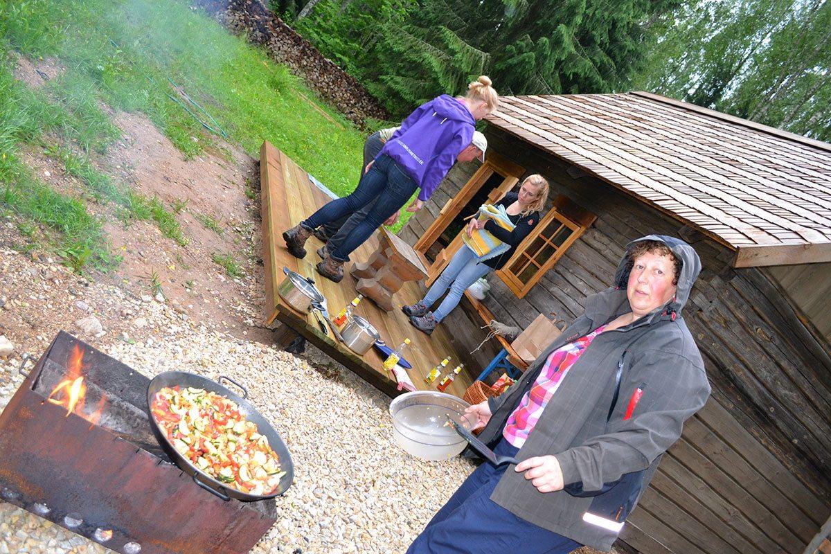 estónske grilovanie pri saune