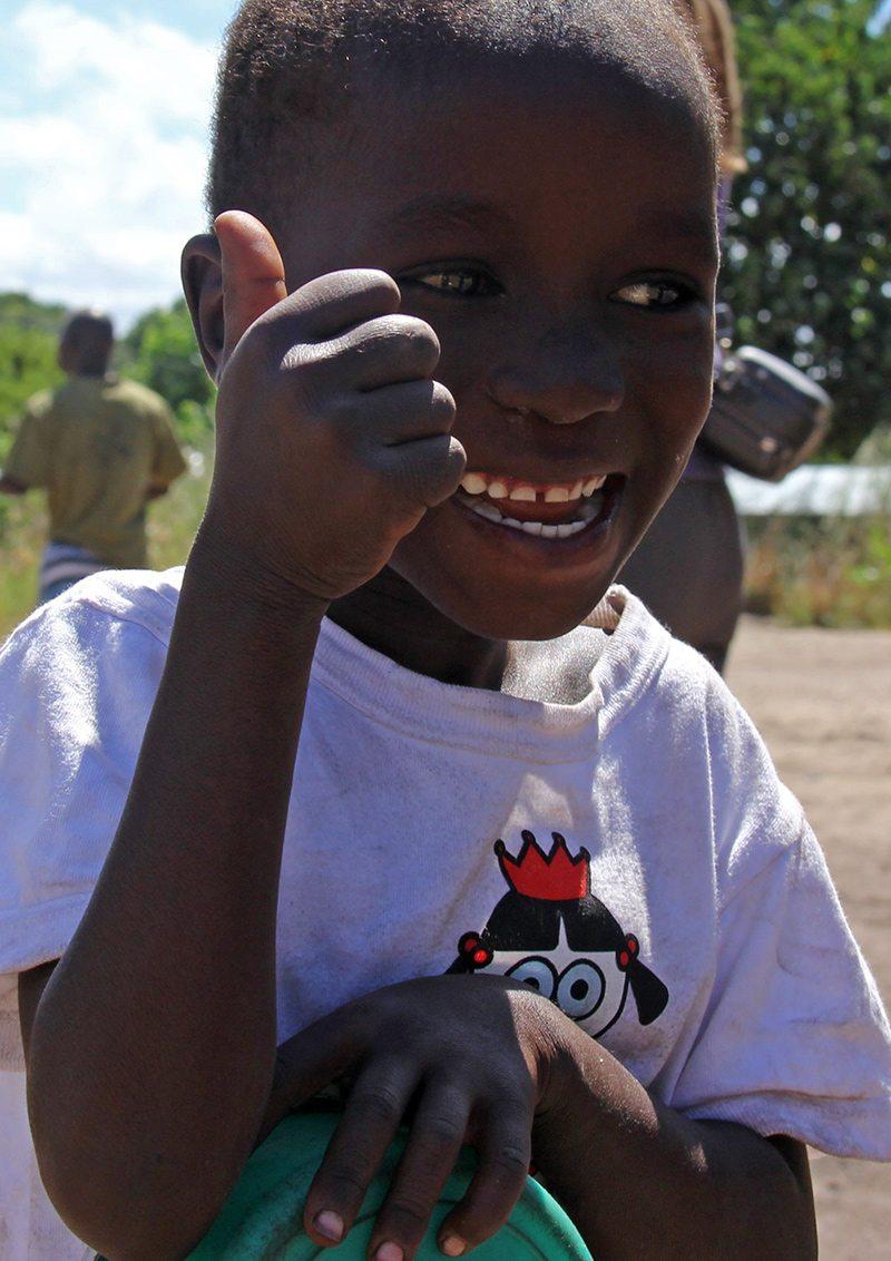 usmiaty chlapček z Malawi