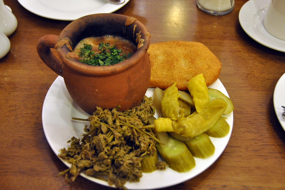 Lobiani, Gruzínske jedlo