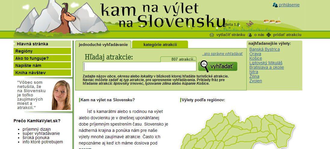 kam na výlet na Slovensku