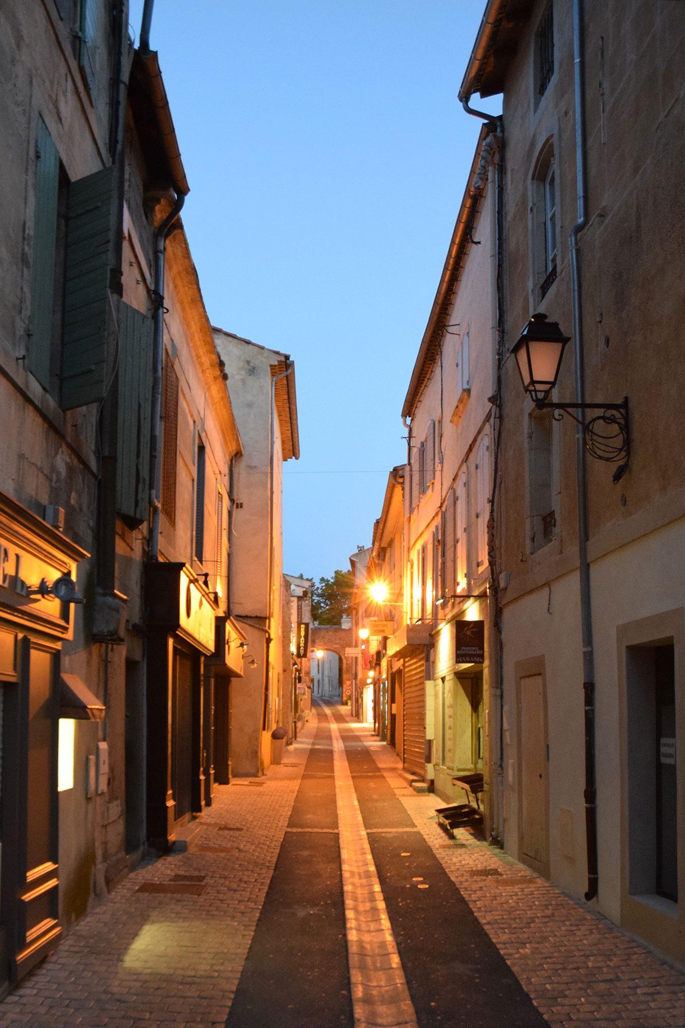 nočná ulička St. Remy