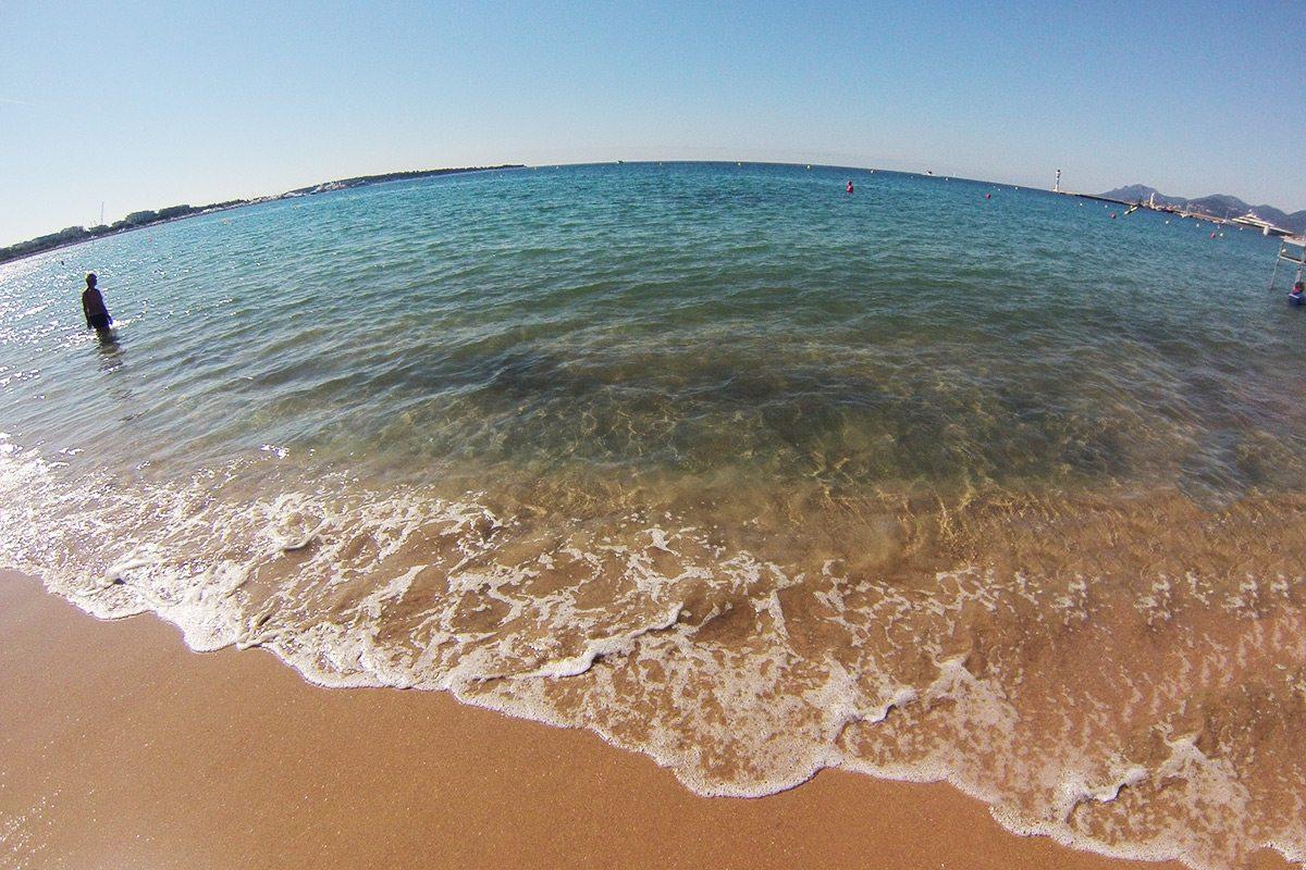 pláž Croisette v Cannes