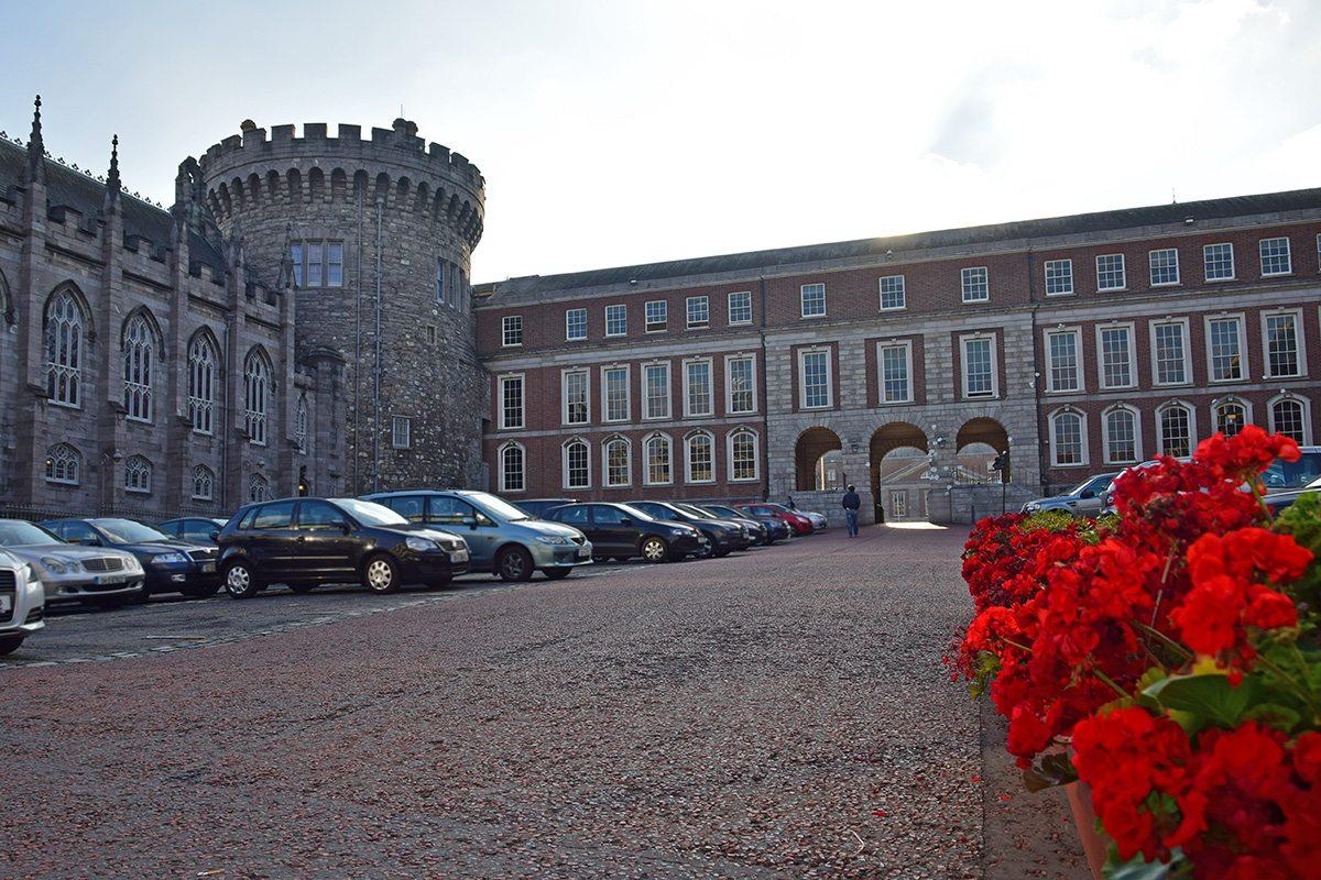 dublinský hrad z vonku