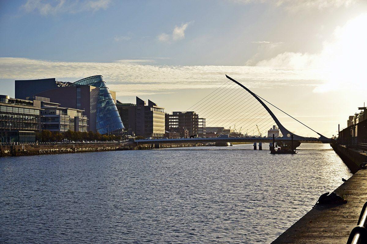 moderné budovy Dublin