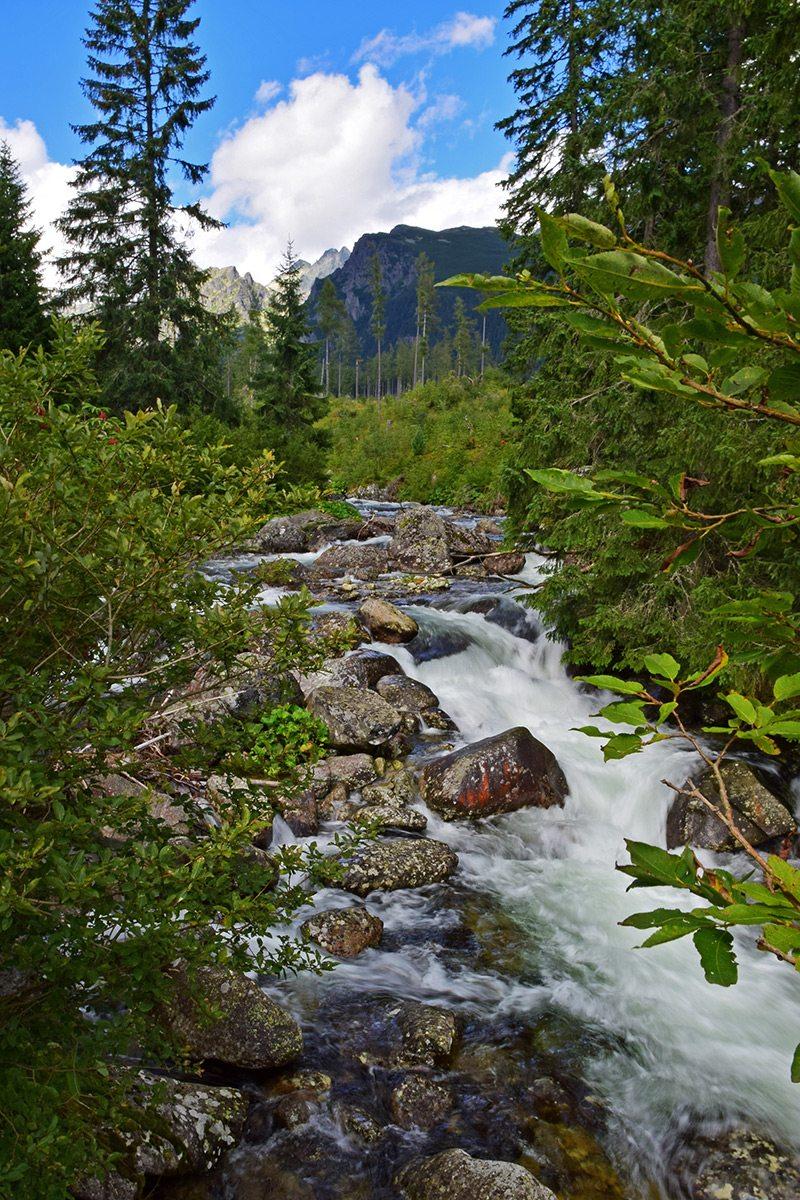 rieka vo Vysokých Tatrách