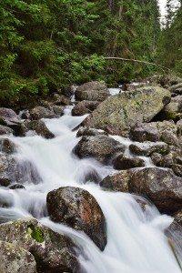 vodopád v Tatrách