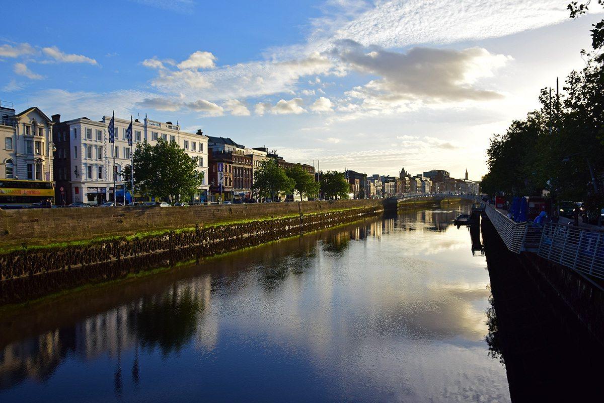 Dublin západ slnka