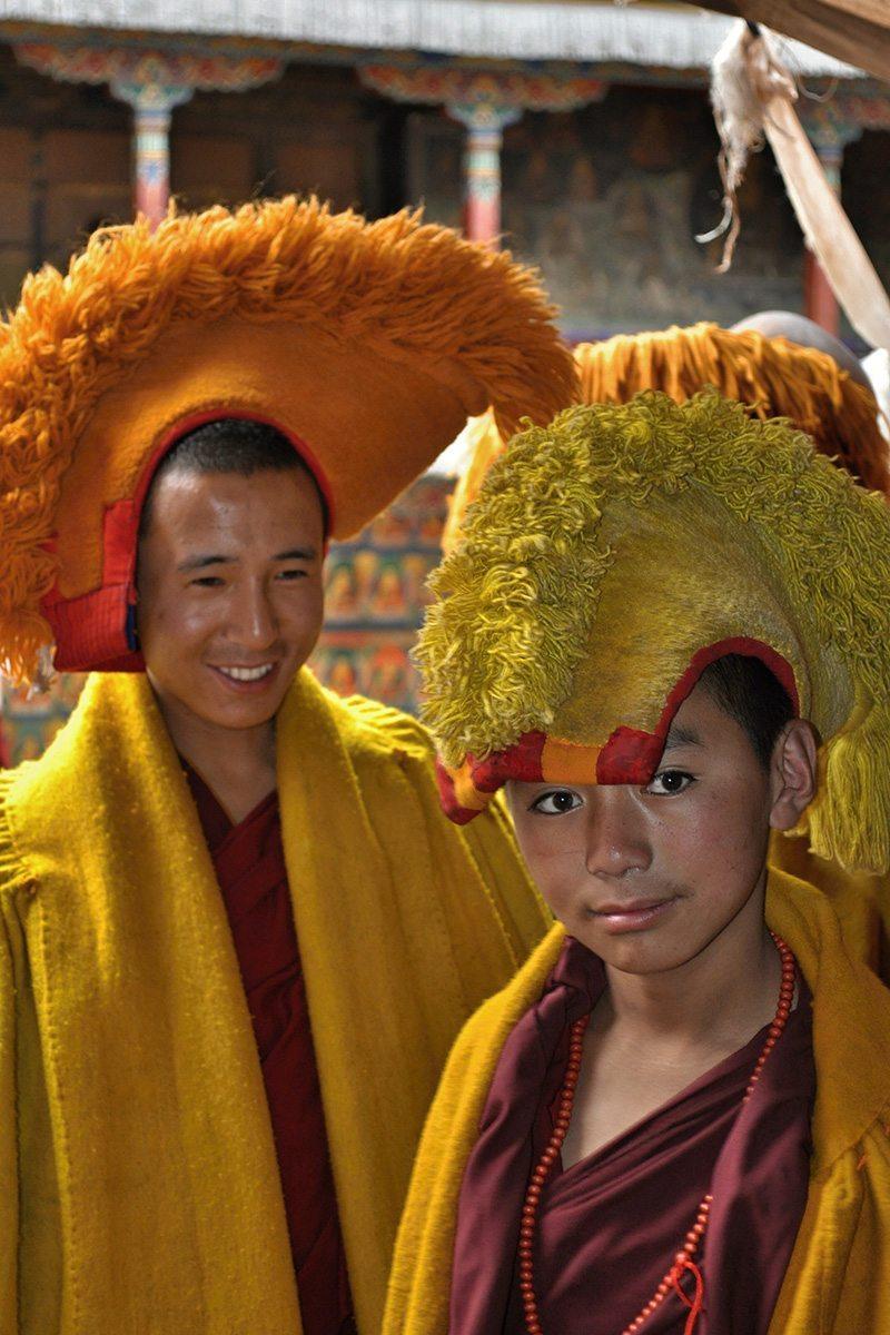 mnich v Tibete