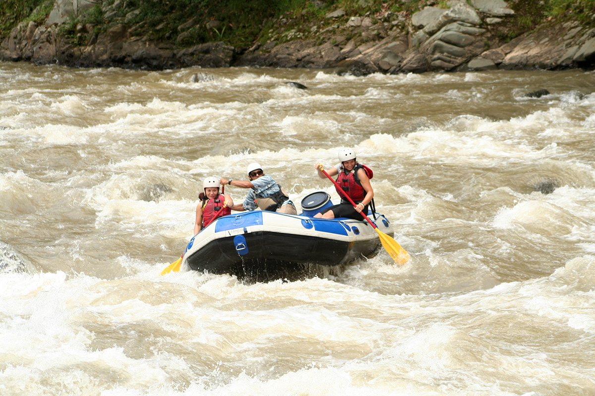 Kostarika a rafting