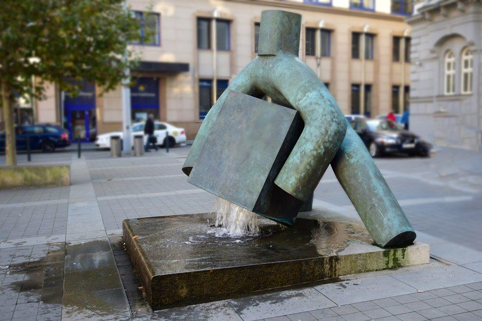 fontána s vedrom