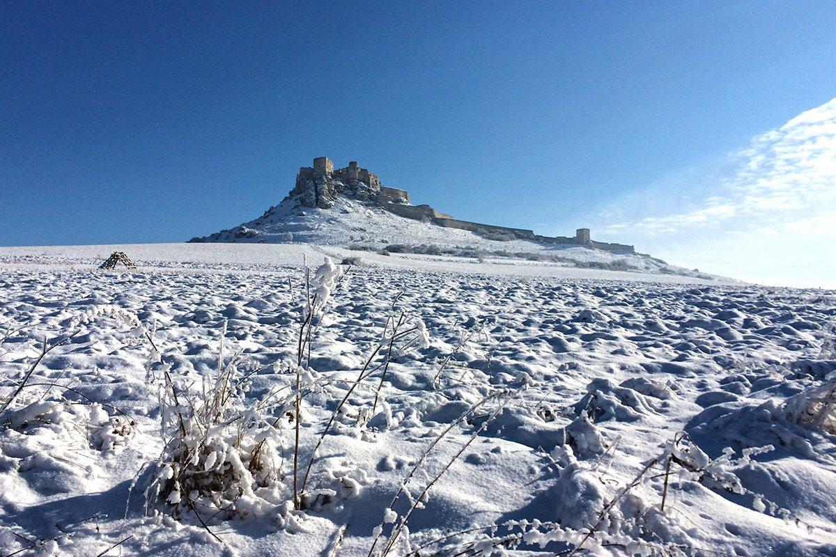 zamrznutý spišský hrad - spiš castle