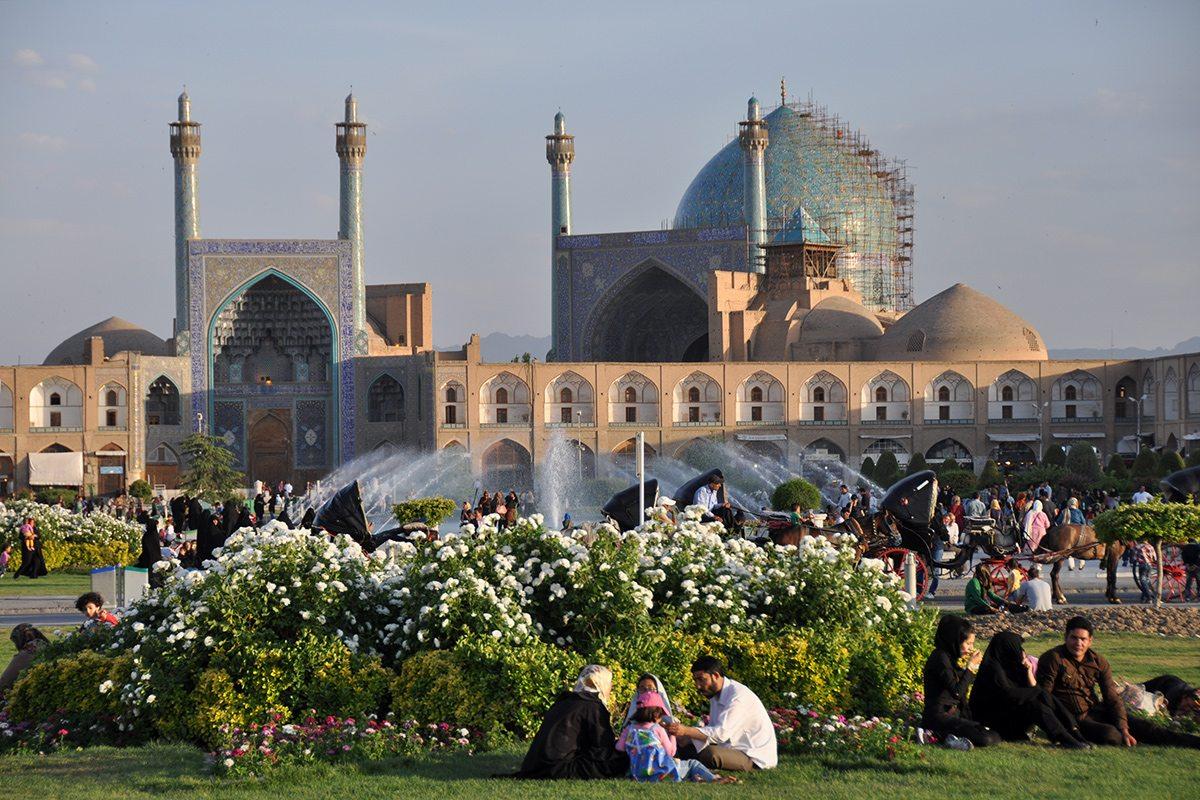 Irán - záhrady Esfahan
