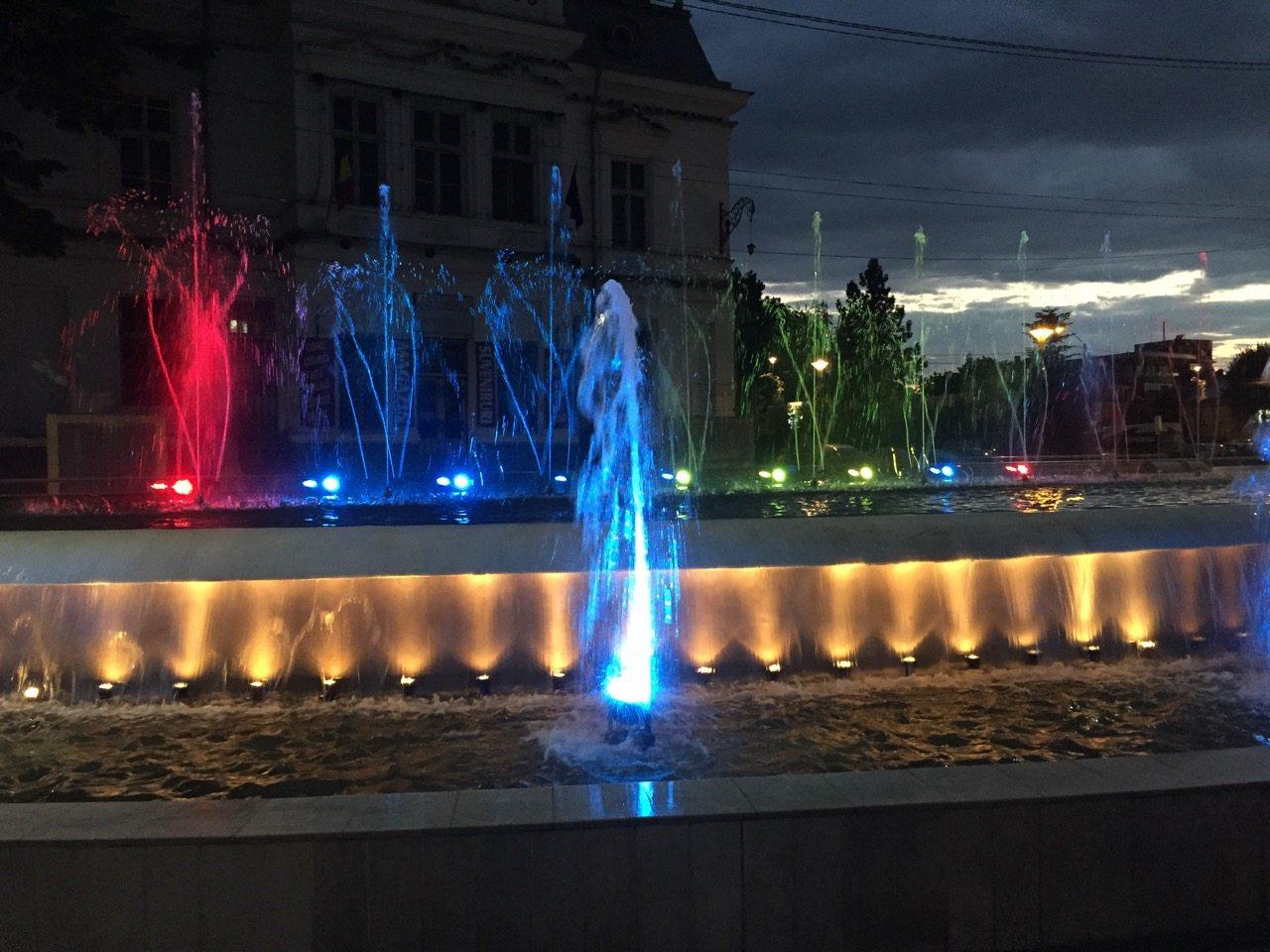 Pitesti fontána