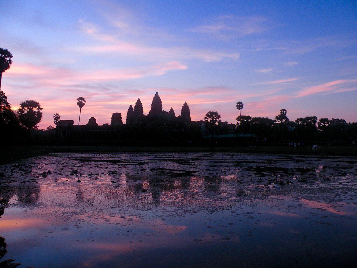 východ slnka Angkor Wat