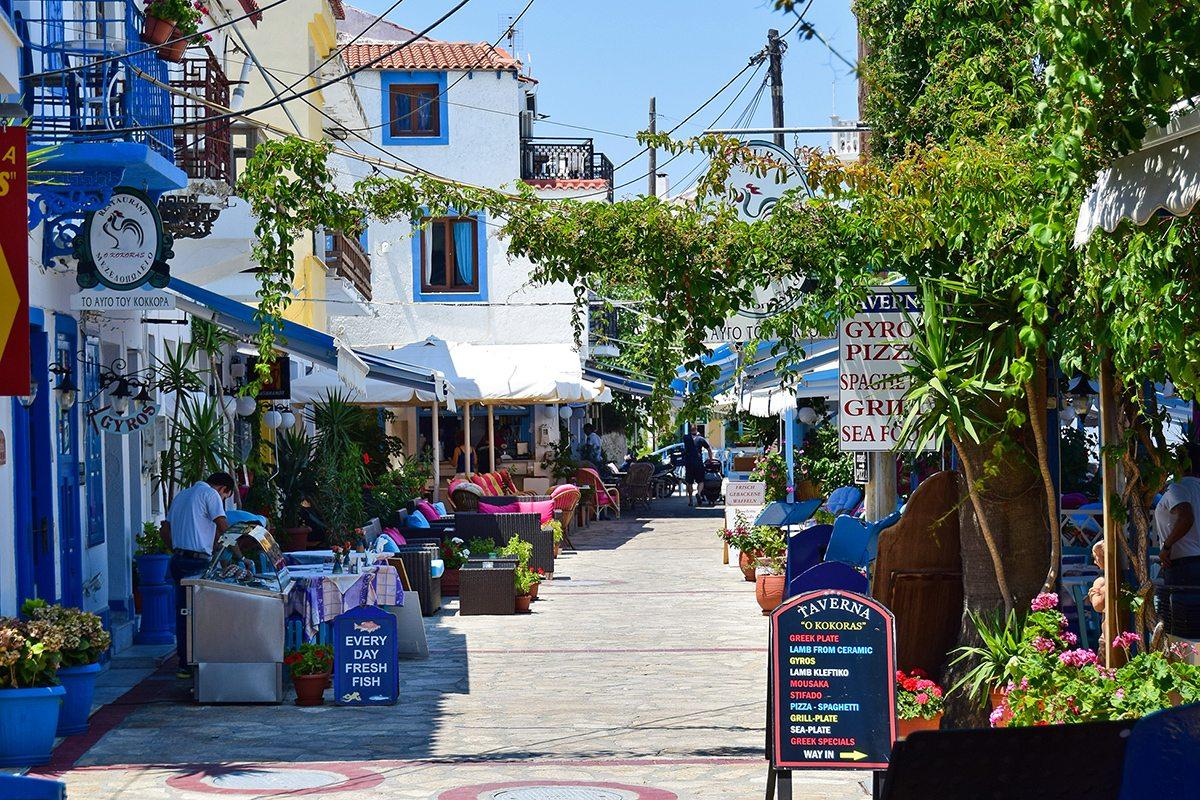 reštaurácie - grécky ostrov samos