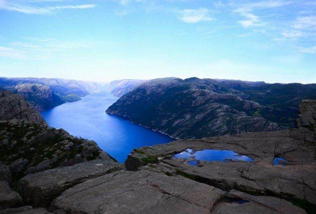 nórske fjordy