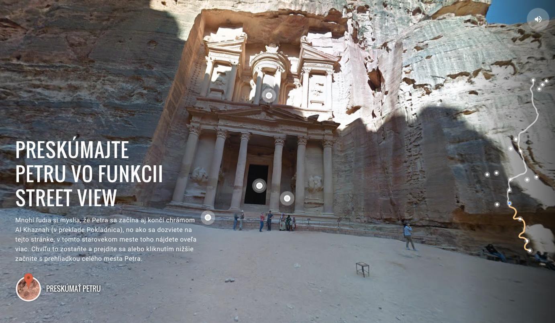 Petra - Jordánsko v Google maps