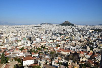 Atény - výhľad z akropoly