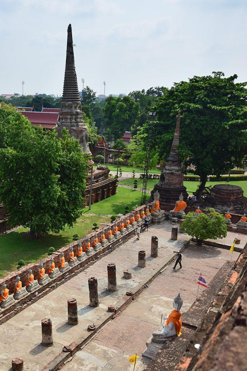 Ayutthaya výhľad zo stúpy - Budhovia