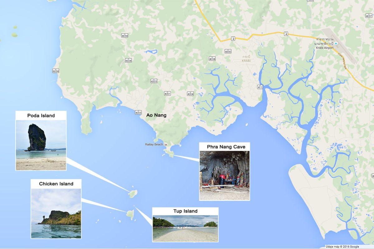 thajské ostrovy pri krabi