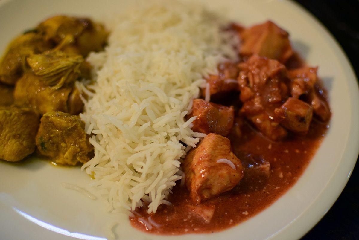 indické kuracie mäso